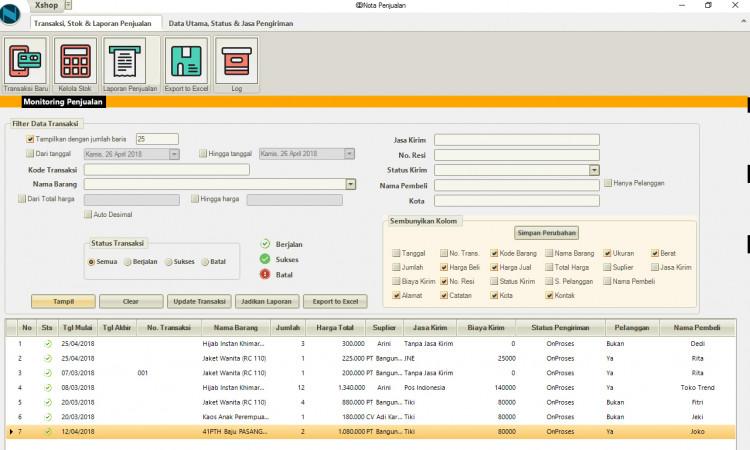 aplikasi pembukuan penjualan online