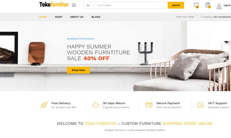 Website Toko Furnitur