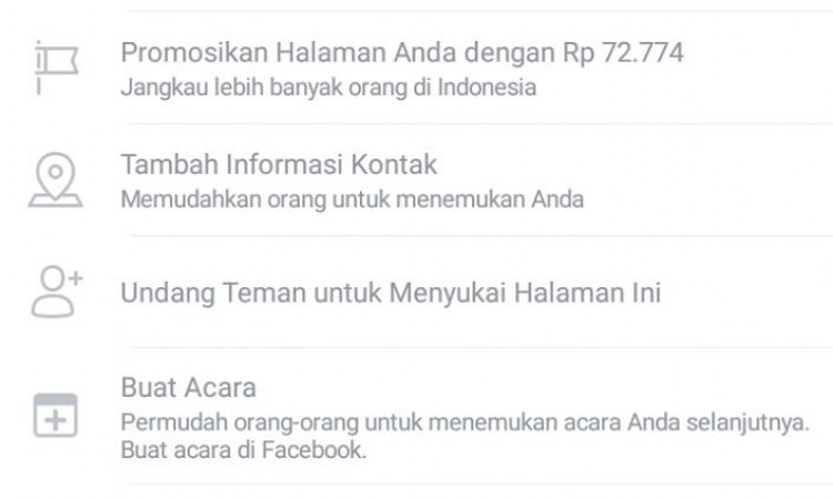 Halaman Facebook + Likers nya