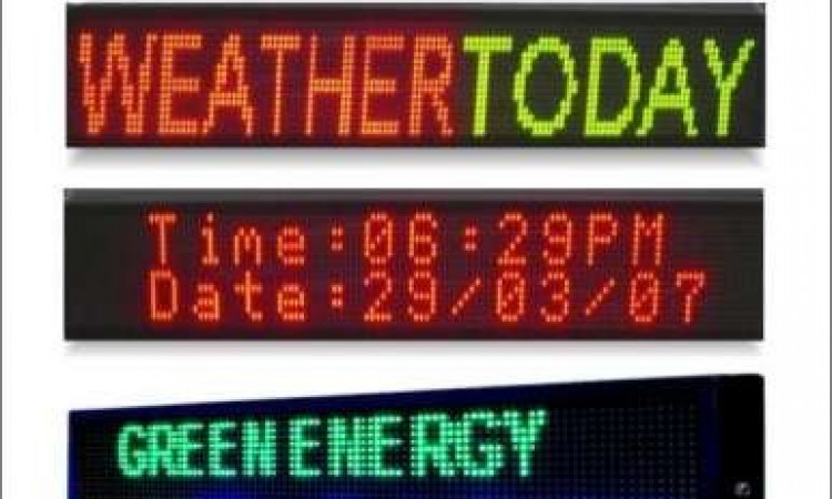 Jasa Pembuatan Running text Outdoor/Indoor