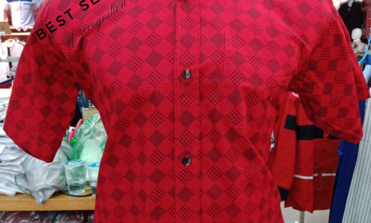 [IN1CORN] Kemeja Motif Layang / Kemeja Kotak / Kemeja Model Imlek Pria Ekslusif Merah