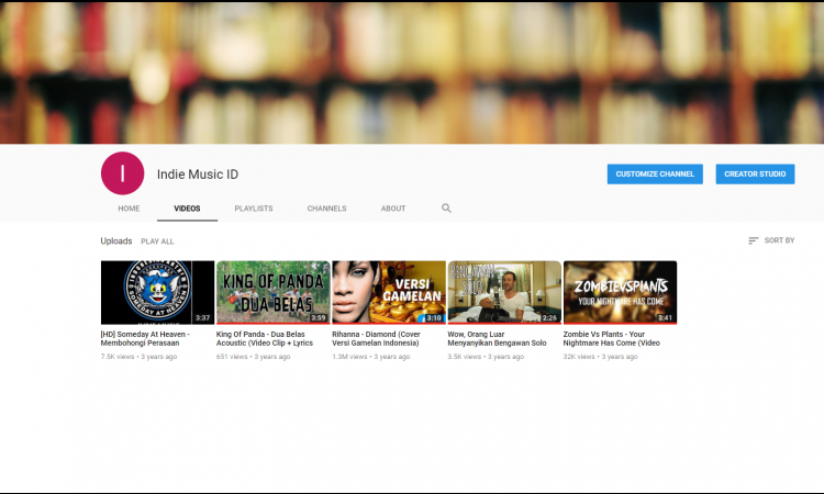 Channel YouTube made in 2014 SUBS 1.8K