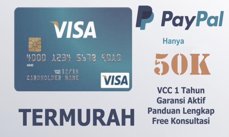 Stock Terbatas! Jual VCC Termurah Untuk Verifikasi Paypal
