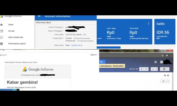 Jual Blog +Domain TLD  ID+Akun Adsense  Nonhosted +Template premium