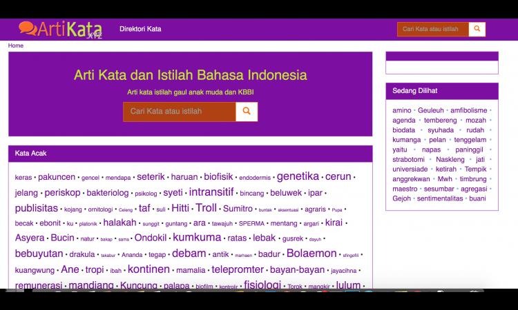 Web Arti kata traffik 1,5 K  Script bisa di perbanyak