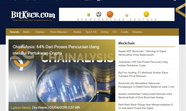 Dijual website Bitkece.com portal berita informasi seputar cryptocurrency