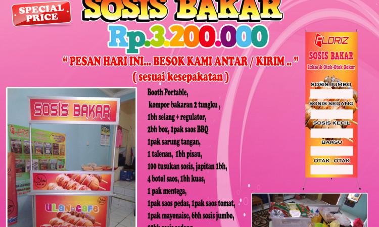 Waralaba Sosis Bakar Jumbo Booth Portable