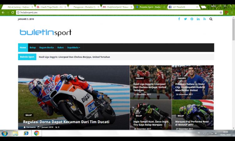 Website Google News Niche Sport/Olahraga