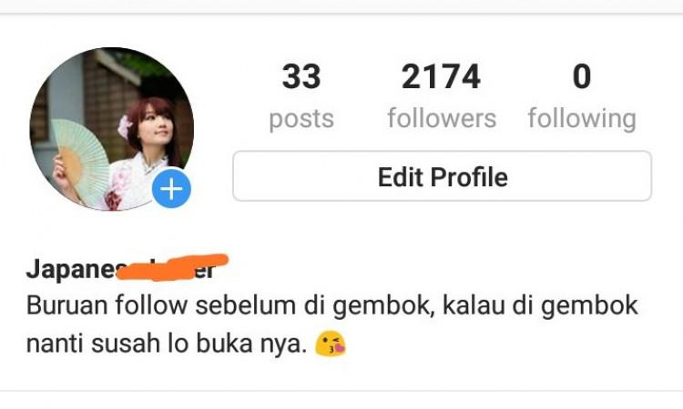 Akun IG 2.174 Followers (SIAP ONLINE SHOP ATAU PRIBADI)