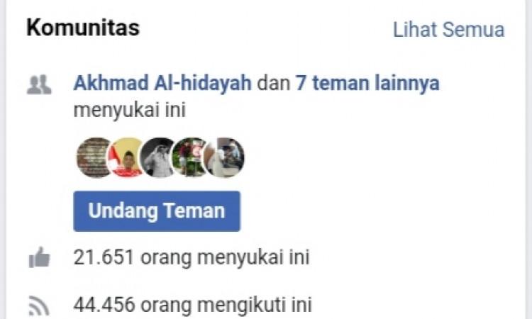 FP FACEBOOK 22k Like. 44K follower. monetize aktif.