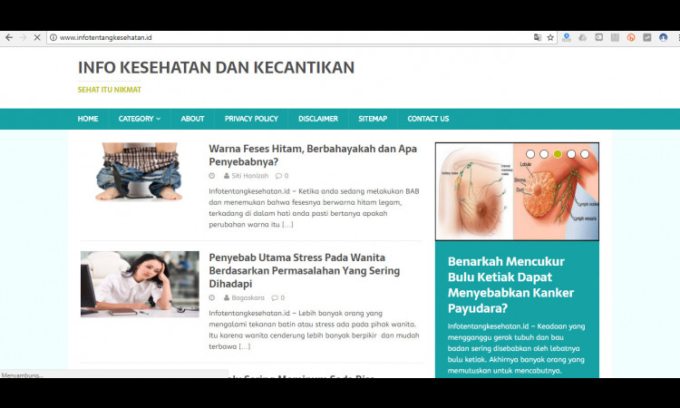 Jual Blog Niche Kesehatan