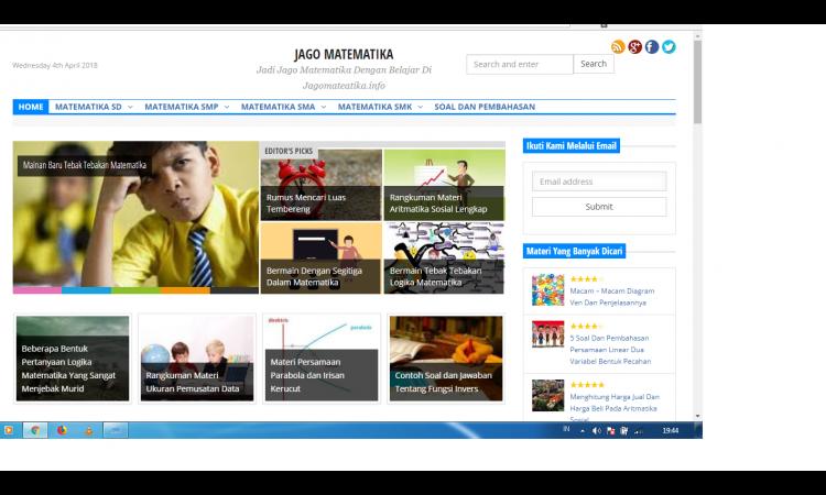 Website Edukasi Matematika Trefik Stabil
