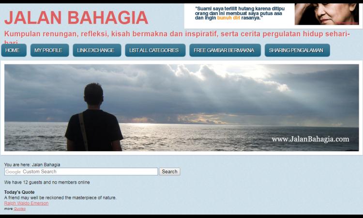 Website konten rohani dan punya google adsense