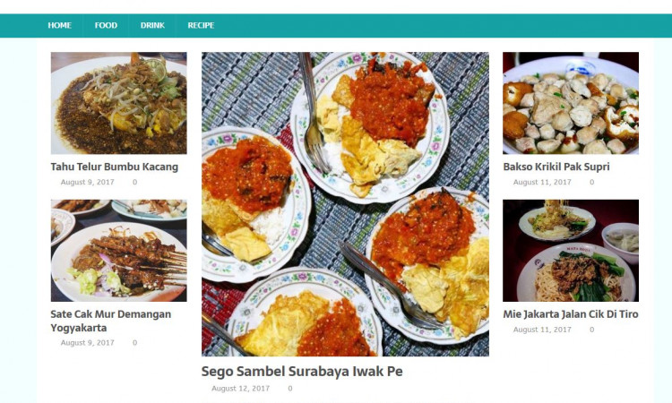 Jual website jogjafood.com