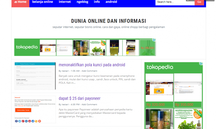 jual blog plus adsense
