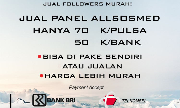 Jual Panel Followers dan Jasa Tambah Followers AllSosmed
