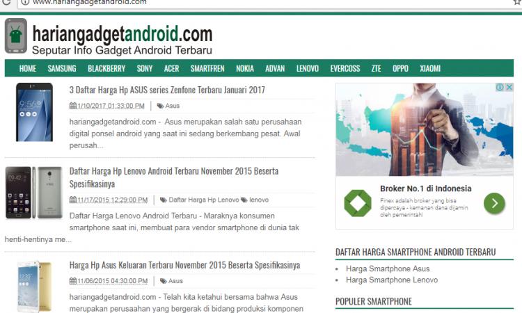 """Website/blog  """" harga dan spesifikasi android """""""