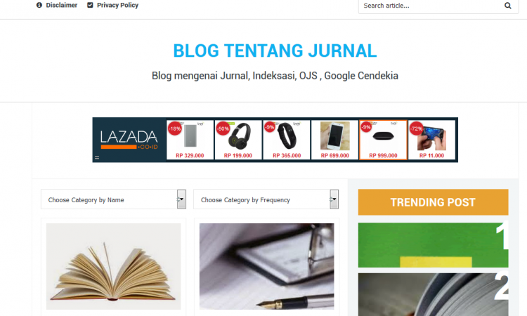 Blog mengenai Jurnal, Indeksasi, OJS , Google Cendekia