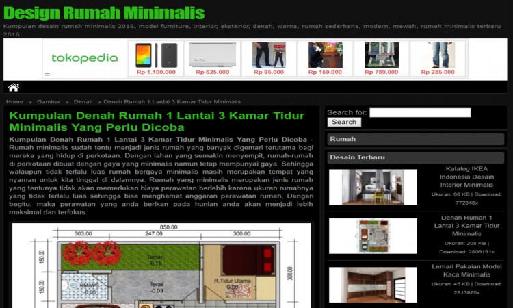 Jual Wordpress Niche Desain Rumah Bertrafik Lumayan Banget, Murah