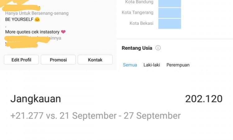 Jual akun instagram 396k Followers