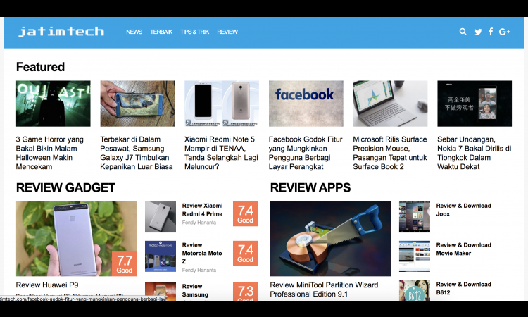 Google News Niche Tekno  | WP Based Theme | Theme Premium | Since 2015