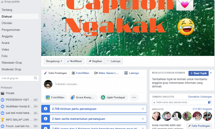 Grup Facebook 200.000 member