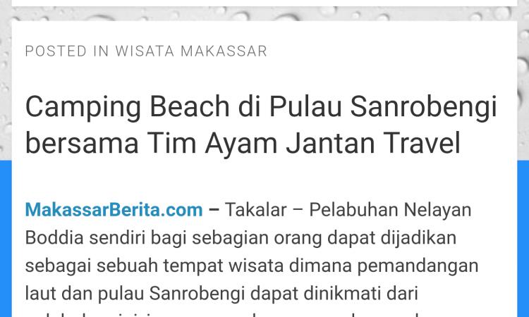 Jual website makassarwisata.com