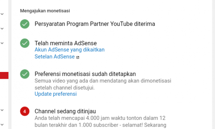 Jual Akun Youtube 10k watch time & 1200 Subscriber