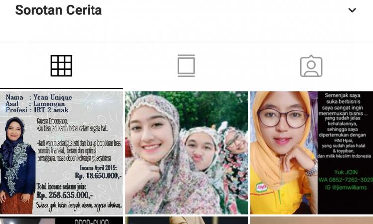 Akun Instagram bekas akun hits