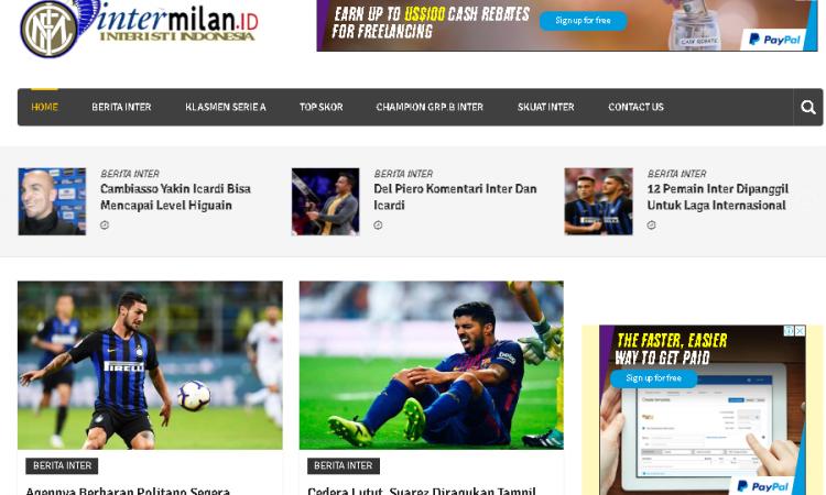 Website Klub Inter Milan