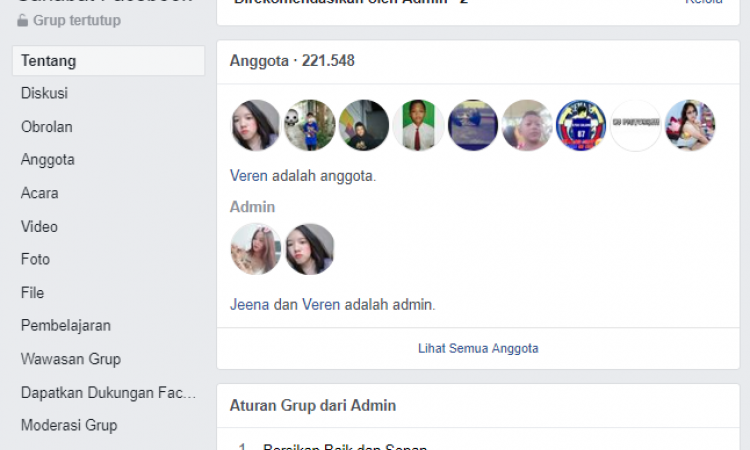 Jual Grup Facebook Member 221RB