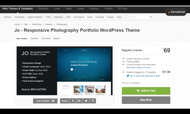 Promo Theme Wordpress Premium Original dari Themeforest
