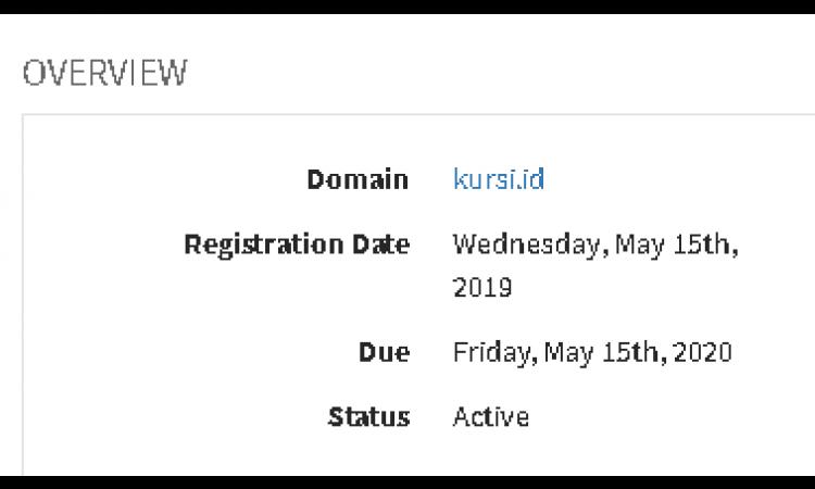 Domain Kursi.id Murah meriah