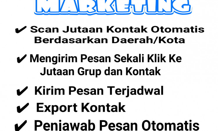 Paket Lengkap WHATSAPP Marketing Fitur plus plus plus