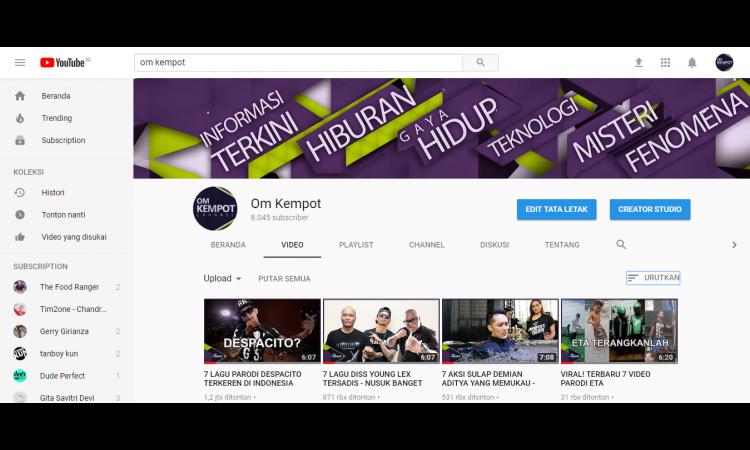 Channel Youtube 8 Ribu++ Subs + Akun Adsense Hosted Full Pin