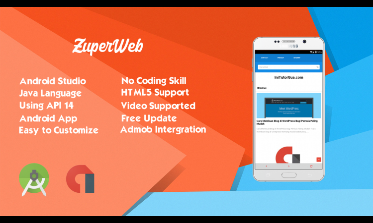 Jual Source Code ZuperWeb Convert Web to Android App