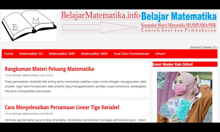 [WTS] Custom blog Pend. Matematika Uv Up To 1K