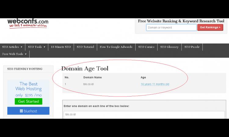 ,(LELANG) Domain Premium : co id - 3 Huruf www.bis.co.id Usia 16 Tahun